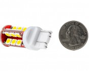 7443 CK CAN Bus LED Bulb - Dual Function 30 SMD LED Tower - Wedge Retrofit: Back View