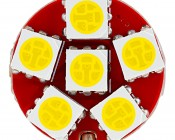 7443 CK CAN Bus LED Bulb - Dual Function 30 SMD LED Tower - Wedge Retrofit: Front View
