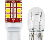 7443 CK CAN Bus LED Bulb - Dual Function 30 SMD LED Tower - Wedge Retrofit: Profile Comparison View