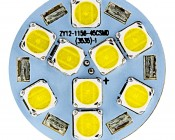 3157 LED Bulb - Dual Function 45 SMD LED Tower - Wedge Retrofit: Front View