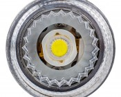1157 LED Bulb w/ Reflector Lens - Dual Function 1 High Power LED - BAY15D Retrofit: Front View