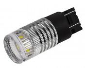 7443 LED Bulb w/ Reflector Lens - Dual Function 1 High Power LED - Wedge Retrofit