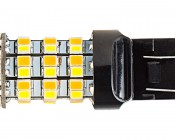 7443 Switchback LED Bulb - Dual Function 60 SMD LED Tower - A Type - Wedge Retrofit: Profile View