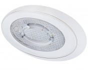"""7.5"""" Oval Dome Light LED Fixture with Switch"""