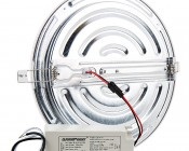 "8"" Round LED Panel Light - 190 Watt Equivalent - Dimmable - Cosmetic Blemish: Back View"