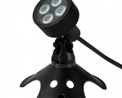 8W LED Landscape Spotlight - Cool White: Shown with Weighted Base (sold separately)
