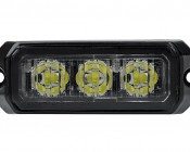 9 Watt Vehicle Mini Strobe Light Head: Front View