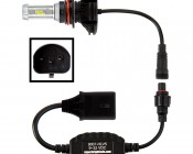 Motorcycle LED Headlight Kit - 9007 LED Fanless Headlight Conversion Kit with Adjustable Color Temperature and Compact Heat Sink: Connection View