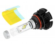 Motorcycle LED Headlight Kit - 9007 LED Fanless Headlight Conversion Kit with Adjustable Color Temperature and Compact Heat Sink