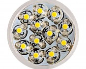 921 LED Bulb - 12 LED Forward Firing Cluster - Miniature Wedge Retrofit: Front View