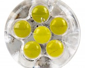 194 LED Bulb - 6 LED Forward Firing Cluster - Miniature Wedge Retrofit: Front View
