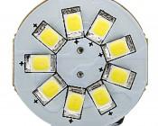 921 LED Bulb - 9 LED Forward Facing Disc Type Wedge Base LED Bulb