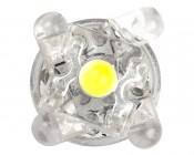 194 LED Bulb - 5 LED - Miniature Wedge Retrofit: View of LEDS top Down
