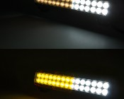 """15"""" Heavy Duty Off Road LED Light - 90W: Shown With accessory Smoke Lens Cover (Top) And Amber Lens Cover (Bottom) (LBC-x9)"""
