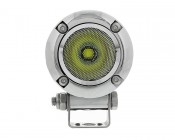 "AUX-10W-R45C-DM - 2"" Round 10 Watt LED Mini Auxiliary Work Light - Cosmetic Damage:  Front View"