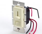 SLVDx-60W-3W - LED 3 Way Switch and Dimmer for Standard Wall Switch Box in Almond