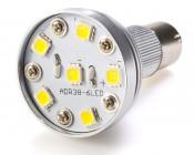R12 LED BA15S Bulb with 6 High Power White LEDs