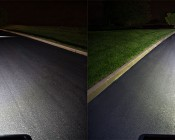 6 Inch 51 Watt Heavy Duty LED Work Light Showing Beam Patterns For 60 Degrees (left) & 30 Degrees (right)