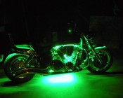 LED Light Strip Accenting Motorcycle Engine