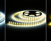 2NFLS-WCW600-24V Dual-White Flexible LED Light Strip illuminated in Cool White, Natural White, Warm White
