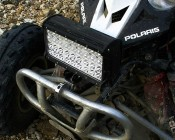 """9""""-Quad-Row-Heavy-Duty-Off-Road-LED-Light-with-Multi-Beam-Technology-108W: Close-Up"""