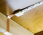 Flat Power Wire Works Well to go Around Cabinet Side Seams to create Clean and Seamless Under Cabinet Lighting.