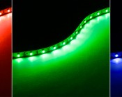 Custom Length Flexible LED Light Strips available in Red, Green, and Blue