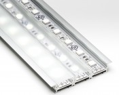 KLUS Triada-K LED Profile shown with LED Light Strips and Lenses (not included)