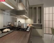 Triada-K Flush Mount 3 Channel Klus LED Profile under kitchen cabinets