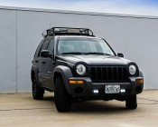 AUX-20W-D15 - 20 Watt Dual LED Mini Auxiliary Work Light installed on a Jeep