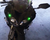 194-G4 Installed as Accent on a Kawasaki Ninja