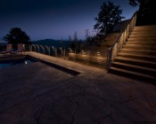 Customer's Patio with LD1-x LED Accent Mounted into Railing