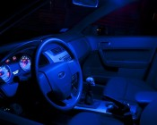 Car Interior Lit Blue With our WLED - Thanks Matt L.