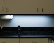 COB LED Linear Light Bar Fixture - 1100 Lumens: LBCOB-CW14W - Installed under cabinets in kitchen