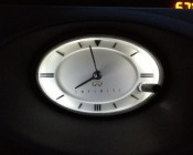 Customer's Clock illuminated in their Infinity with Cool White NEOx Bulbs