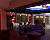 RGB Flexible Light Strips Line Ceiling and Under Bar for Accent Lighting