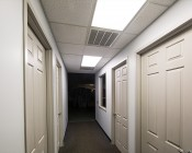 50W LED Panel Light Fixture - 2ft x 4ft: Installed In Ceiling In Cool White.