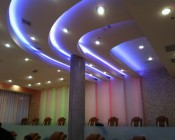 Customer Photo Showing Our RGB LED Light Strip Illuminating a Ceiling.