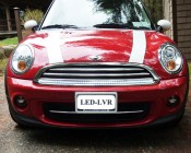 SWFLS-CW60 installed in the grille of a Mini Cooper for use as a daytime running light