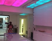 Customer photo of their ceiling accented with our RGB strips