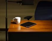E27-xW8W-T - Natural White Bulb in Desk Lamp