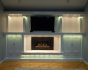 A customer's Entertainment Center accented using our LB4 LED light bar - Thanks Jeff S.