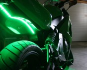 Green Weatherproof Light Strips Accent Motorcycle