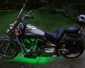 24-LED Waterproof Flexible Light Bar on Customer's Motorcycle.