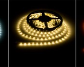 NFLS-SS-x300 High Power LED Super Slim Flexible Light Strip illuminated in Cool White, Warm White, Amber