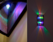 LED multicolor night light bulb in fixture