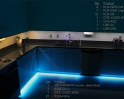 RGB Flexible Light Strips Line Under Cabinets  for Accent Lighting