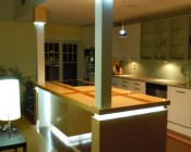 A customer's kitchen accented using our LB4 LED light bar - Thanks Jeff S.
