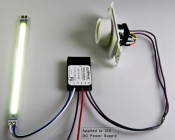 A019 Low Voltage Dimmer and A011-D-V-x FlexBlock used in conjunction with a Vollong 10W LED and powered by 12 volts