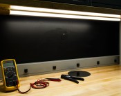 B4574 - GIP series Light Fixture Mounted under cabinets on a workstation